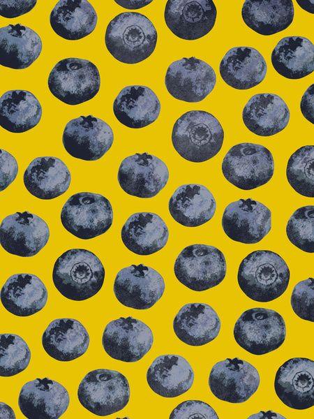 Blueberry pattern / Georgiana Paraschiv