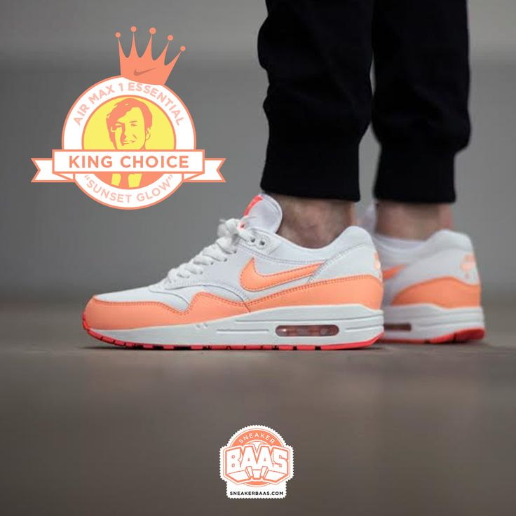 "#nike #airmaxone #airmax1 #am1essentials #sneakerbaas #baasbovenbaas  Nike Air Max 1 Essentials ""Sunset Glow"" - Now available online, priced at € 134,99 - Last sizes!  For more info about your order please send an e-mail to webshop #sneakerbaas.com!"