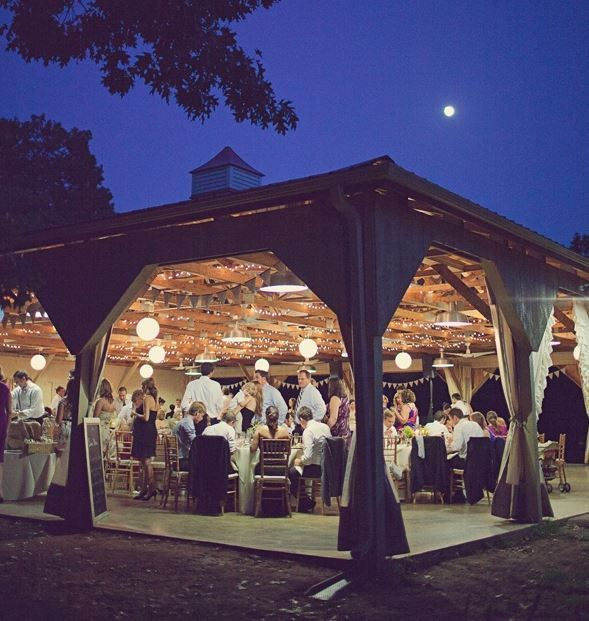 Formal Barn Party Outdoor Pavilion Party Ideas Pinterest