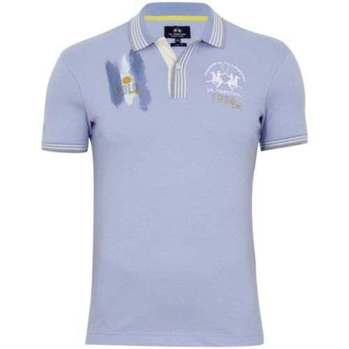 Argentina Azzurro Cotone Lmp320 Stretch Shirt Martina Team La Polo 9EHID2