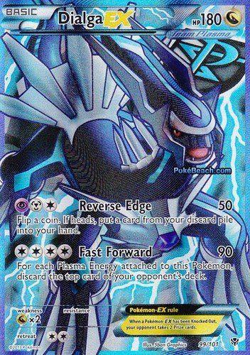 Dialga Ex Plasma Blast Full Art 99/101 Pokemon Card Rare