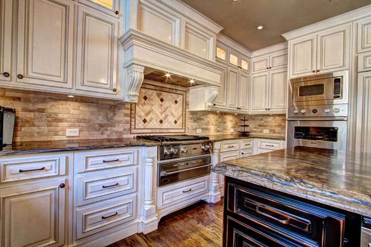 antique kitchen cabinets Kitchen Traditional with 12 foot ceiling ...