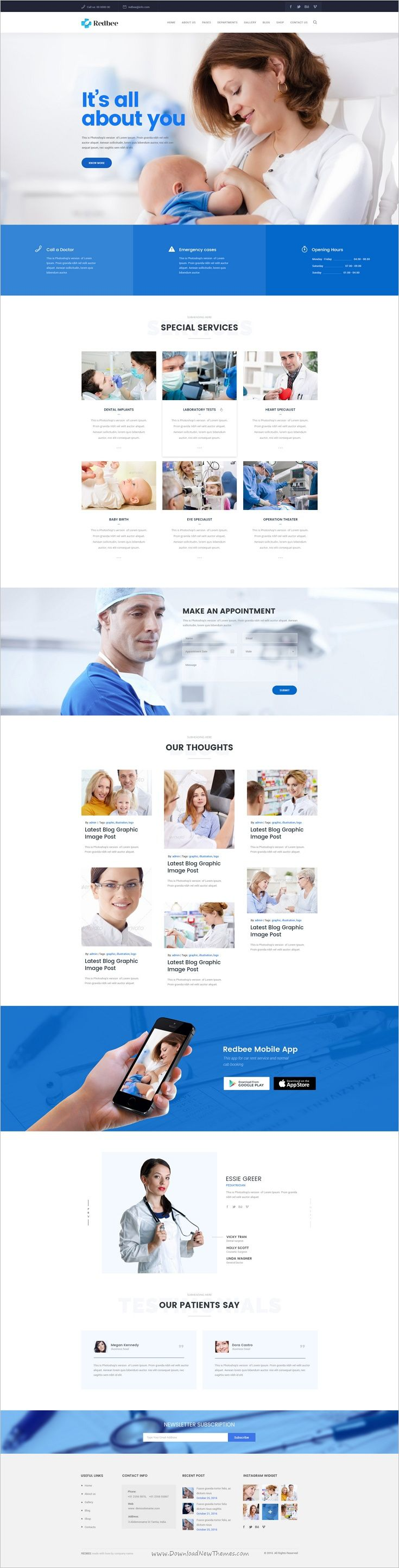 Redbee is a wonderful multipurpose #PSD template #webdev for stunning #medical website download now➩ https://themeforest.net/item/redbee-multipurpose-multi-business-psd-template-vol02/18710954?ref=Datasata