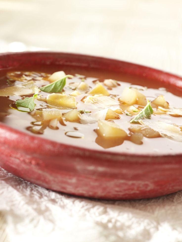 Recepten - Minestrone met aardappel en witte bonen