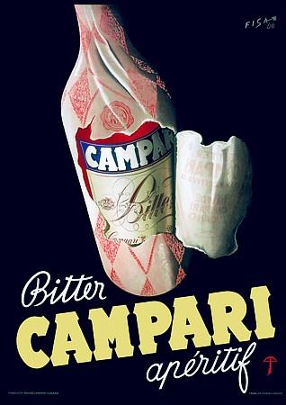 Bitter Campari Aperitif print. 1948 http://www.vintagevenus.com.au/collections/drinks/products/vintage_poster_print-d233
