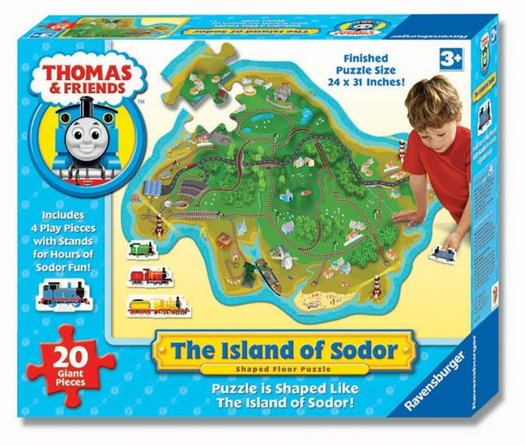 Amazon Com Ravensburger Floor Puzzle The Island Of Sodor