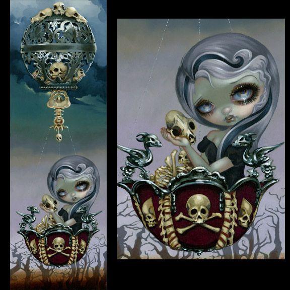 """Bone Chariot"" - by Jasmine Becket-Griffith http://www.strangeling.com/shop/fine-art-prints/bone-chariot/"