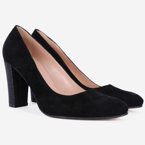 Pantofi din piele naturala negri Despinta