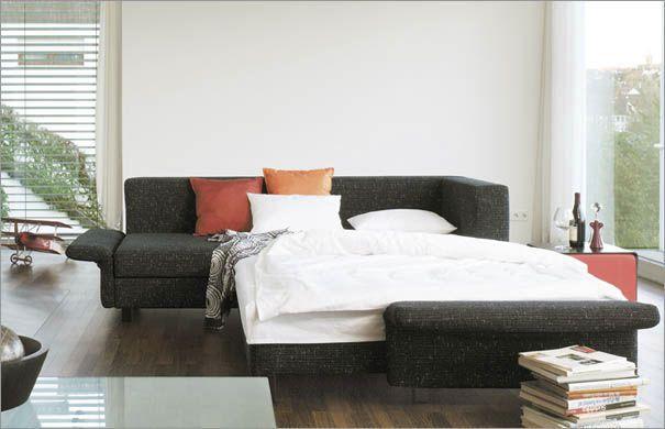 Divano letto / d'angolo / moderno / in tessuto SONA by Franz Fertig die Collection