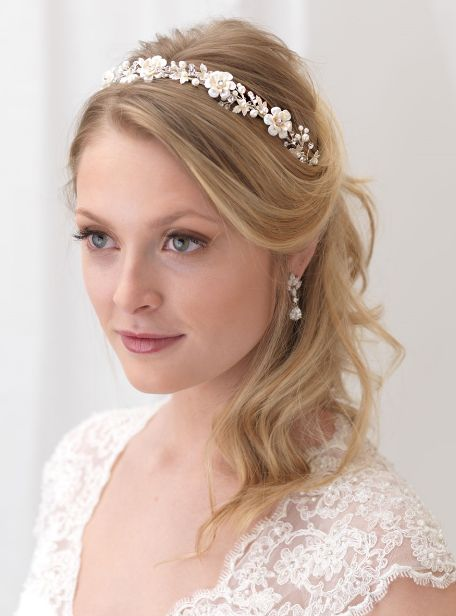 Affordable Elegance Bridal - Pearl and Rhinestone Floral Bridal Headband in Silver or Gold, $69.98 (http://www.affordableelegancebridal.com/pearl-and-rhinestone-floral-bridal-headband-in-silver-or-gold/)