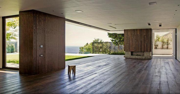 Open plan, villa fireplace.