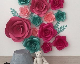 Giant Paper Flowers Wall Paper Flower Wall Wedding by MioGallery