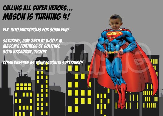 29 best images about Superman birthday – Superman Birthday Invitations