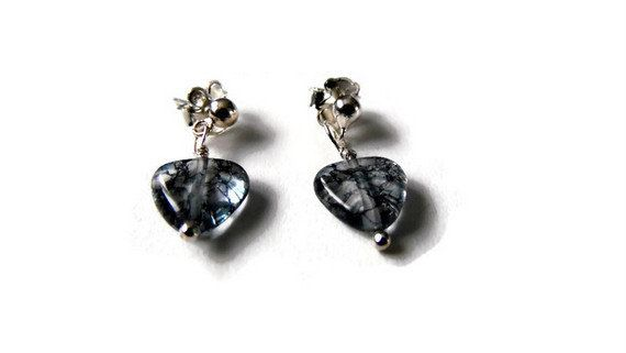 small heart studs,blue quartz jewellery,silver 925 studs,tiny heart studs,natural genuine gemstones,925 studs,kids studs,blue heart studs