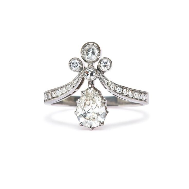 Victorian Vintage Inspired Engagement Ring | Tiara II