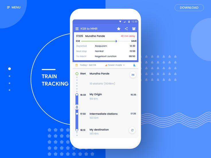 Landing page- Train tracking