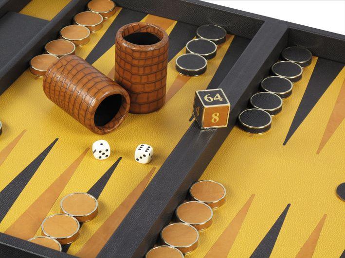 "Using ""mock-croc"" leather on our backgammons! #bespoke #luxury #leather #games #backgammon #craftsmanship #leatherwork #design #style #gifts #boardgames"