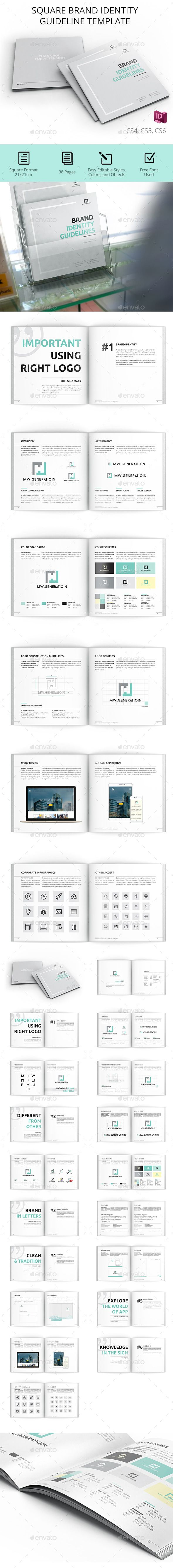 Clean Brand Manual  InDesign Template • Download ↓ https://graphicriver.net/item/clean-brand-manual/16997550?ref=pxcr