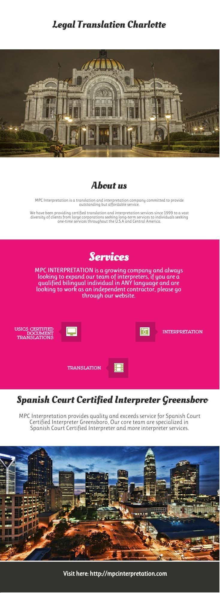 Are you searching for Spanish Certified Translator in Concord? MPC Interpretation provides Spanish Certified Translator in Concord. We have experienced team to provide the high quality of Spanish Certified Translator in Concord. For more information visit our website.