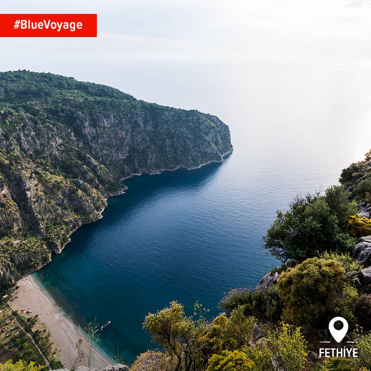Butterfly Valley is just one example of the kind of beautiful cove only accessible by #BlueVoyage in Turkey.