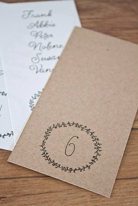 Perfect for organic affairs - these free printable escort cards and table numbers from Swooned Magazine. #freeprintables
