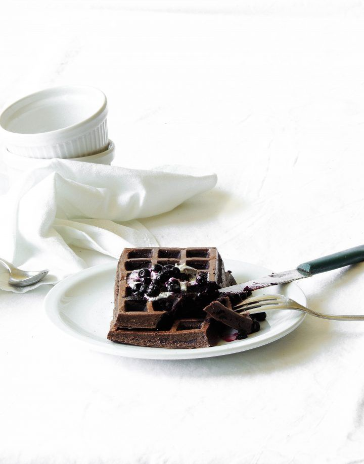 waffle proteici al cacao - low carb 1