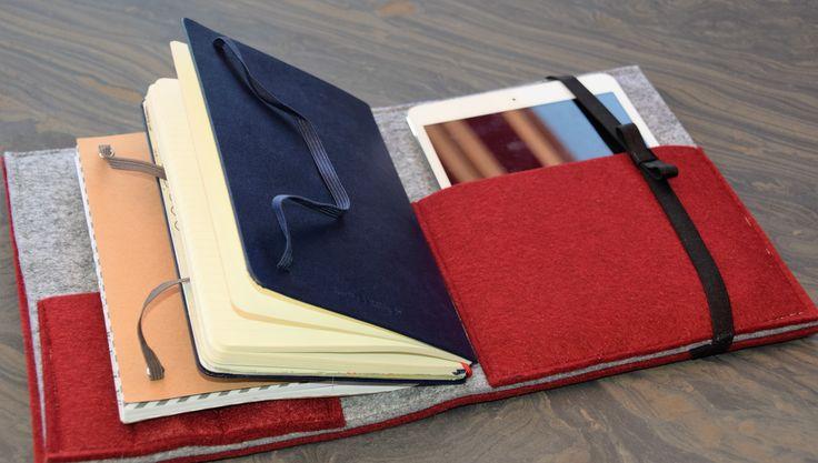 Notizbücher und IPad Tasche nähen