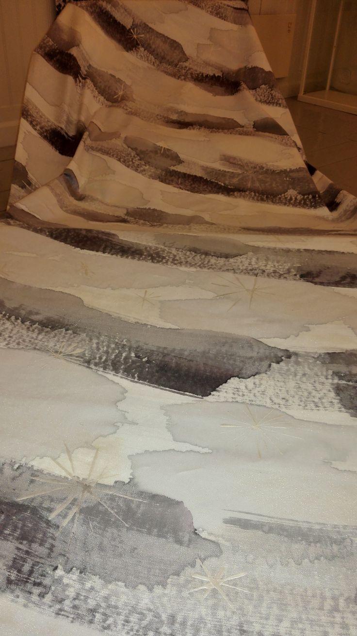 Shrove Tuesday, hand painted tablecloths, 150 x 300 cm.