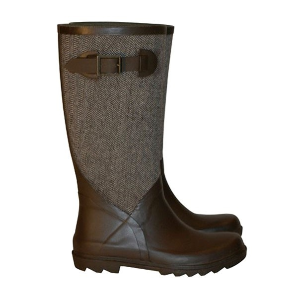 Noisette Brown Boots in Hunter Style