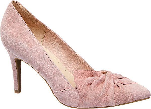 74fb8f9b18b Catálogo Zapatos Deichmann Primavera Verano 2018 taco rosa gamuza