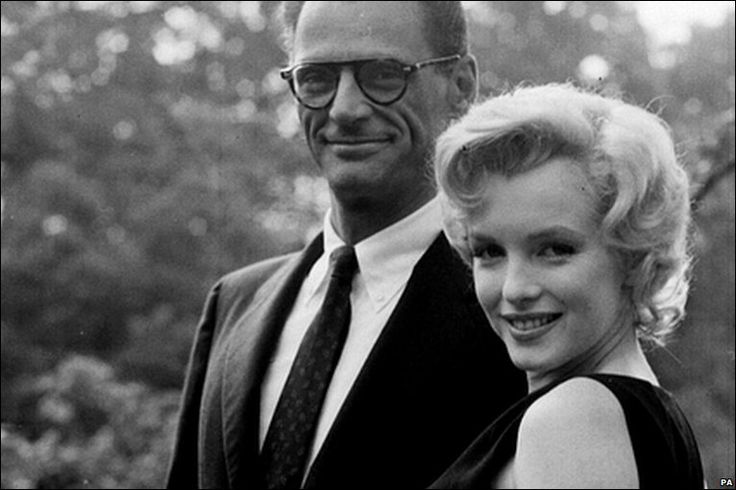 Marilyn and Arthur Miller on the grounds of Parkside House with new hsband prize-winning playright Arthur Miller. According to her assistant at Parkside House Colin Clark, the relationship was already under strain. Other sources dispute that.