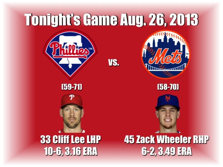 Cliff Lee and the Philadelphia Phillies hit the road starting with the series opener against the New York Mets. Here's tonight's preview with game notes and lineups: http://www.philliesnetwork.com/?p=9936