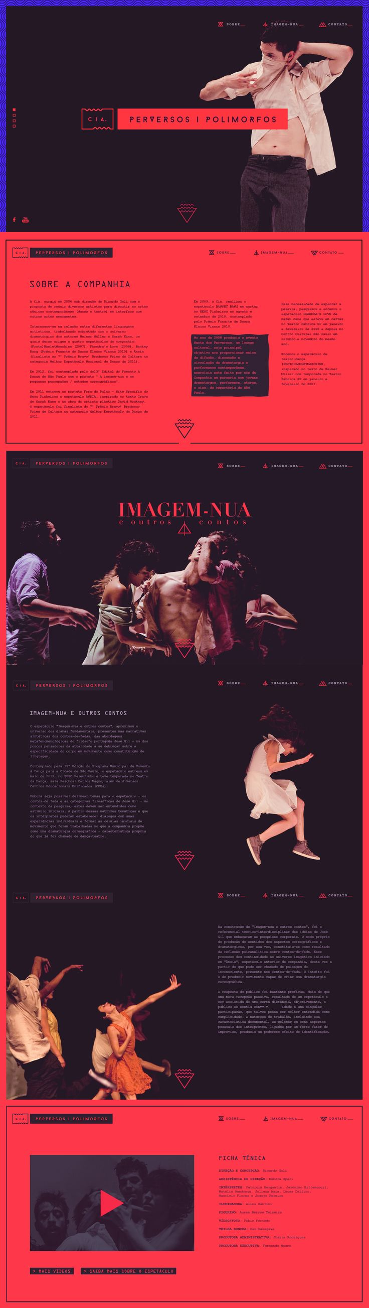 This website, and apparently the Spanish dance company it represents, CIA, oozes sex.