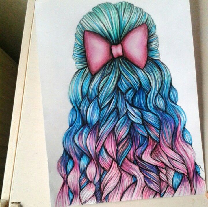 drawings hair drawing desene pretty creion draw amazing trendy pencil bow cool discover sketch in hairstyles colorful favim tips weheartit