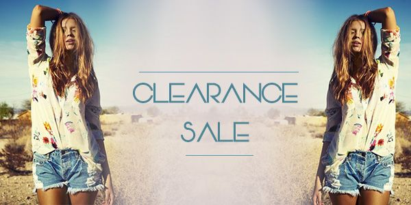 Come see our CLEARANCE SALE on our Online Boutique this long weekend!