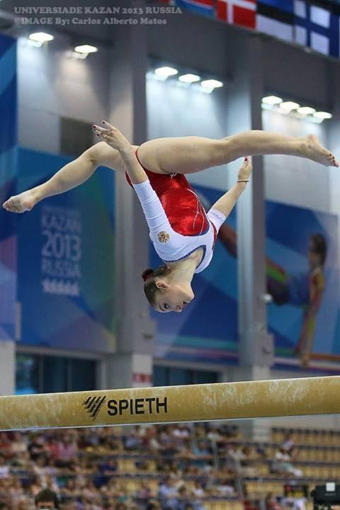 As much as I dislike her attitude, she's a beautiful gymnast. Aliya Mustafina