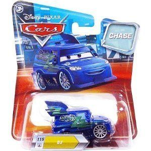 Disney / Pixar CARS Movie 155 Die Cast Car with Lenticular Eyes Series 2 DJ Metallic Finish Chase Piece! by Mattel. $18.89. Chase car--limited prodution. Only one with this metallic finish. Lenticular Disney Pixar Cars Series 2 CHASE DJ Metallic Blue Paint Job