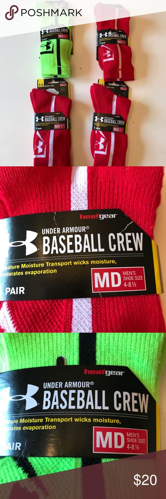 Baseball socks lot fits big boys /men's 4-8 1/2 My boys no longer need them so time to get rid of these   Big Boys or men's shoes sz 4-8.5   $6 for 1 $12 for 2 $15 for 3 All for $20  Please see all photos for sizing Under Armour Accessories Socks & Tights