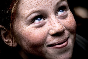 Redheaded Girl with freckles