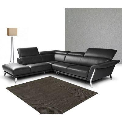 J&M Furniture Heni Premium Leather Sectional Orientation: Left Hand Facing