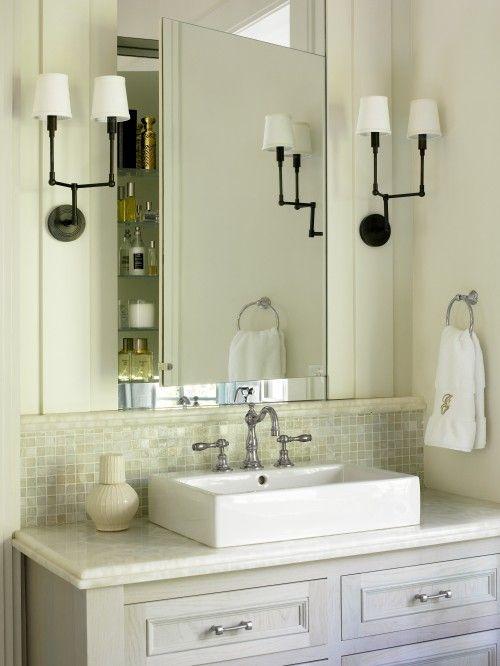 Gray washed bathroom vanity painted in benjamin moore for Onyx bathroom design