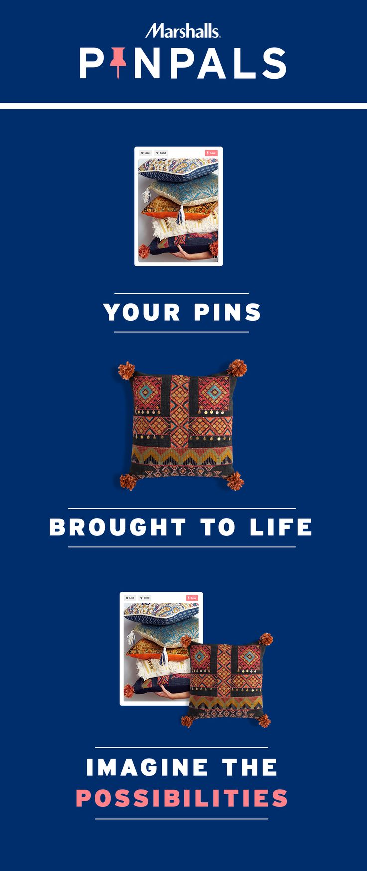 Your Pinterest dreams are about to become a reality. Save what inspires you on our Pin Pals board and a style pro might curate a box of Marshalls gems tailored to your tastes! No purchase needed. #Contest