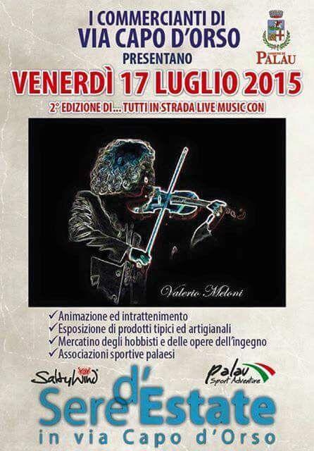 Tutti in strada - Live Music con  Valerio Meloni 17 luglio