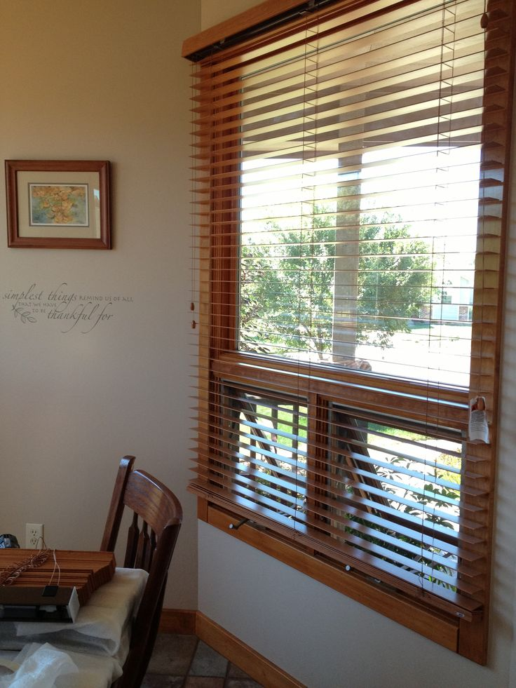 exterior mounting bali wood blinds was our solution to our