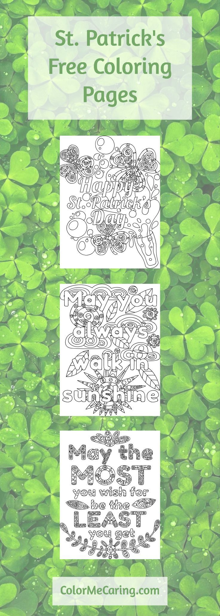 Free coloring pages of memorial day - March Free Coloring Pages St Patrick S Irish Blessings