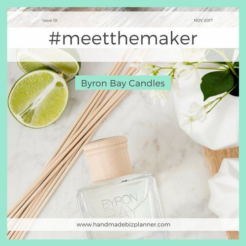 The Handmade Biz Planner meets Byron Bay Candles.