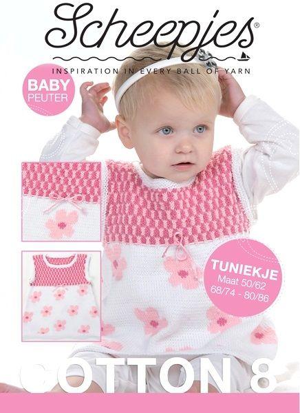 Met dit leuke patroon ga je een tuniekje breien voor meisjes. De maten lopen van 68 tot 98 en het tuniekje is dus bedoeld voor baby's en peuters.