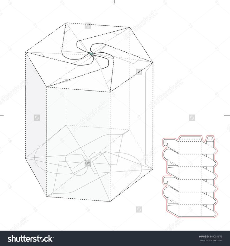 Hexagonal Push Lock Tube Retail Box With Die Cut Template Stock Vector Illustration 349081676 : Shutterstock