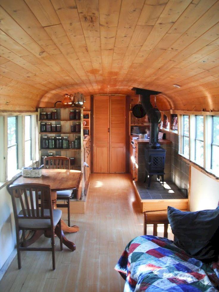 66 Best Skoolie School Bus RV Conversion Homes Images On