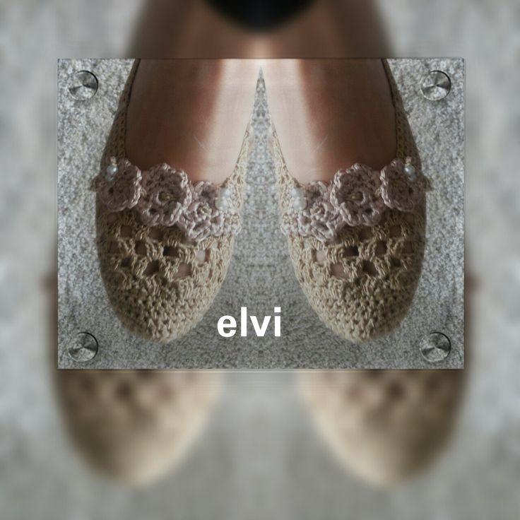 New Ballet Crochet Shoes, Gold Women Crochet Slippers, New Fashion Viscozi…